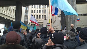 Demonstrationen in Simferopol auf der Krim.